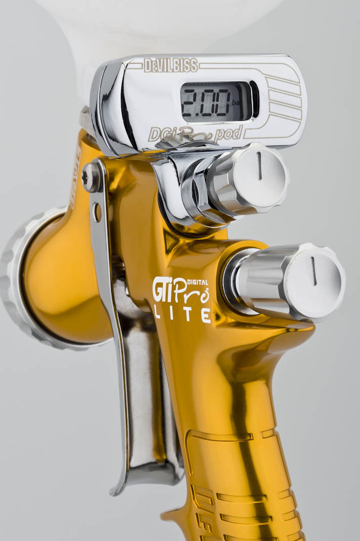 devilbiss gti pro lite digital te10 air cap spray gun w dgi pro pod ebay. Black Bedroom Furniture Sets. Home Design Ideas