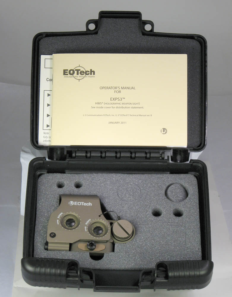 Eotech Exps3 0 Tan Holographic Weapon Sight 65 Moa Circle