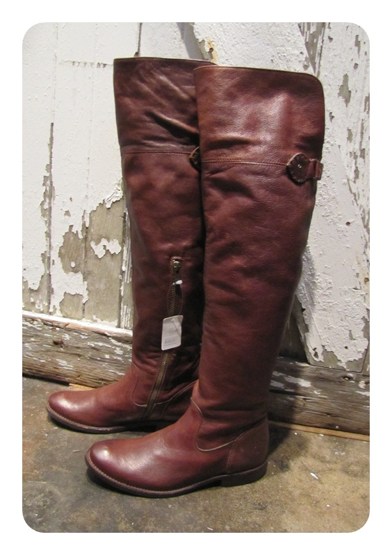 New Frye Dark Brown Shirley Over the Knee Riding Boot 6 M $448 | eBay