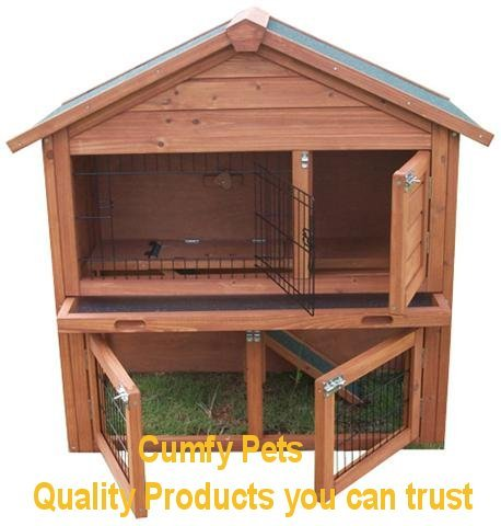 Rabbit guinea pig ferret hutch run cp020 free cover ebay for Free guinea pig hutch
