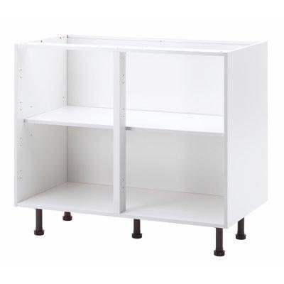 New white mfi kitchen cabinets base units all sizes ebay for Kitchen base unit sizes