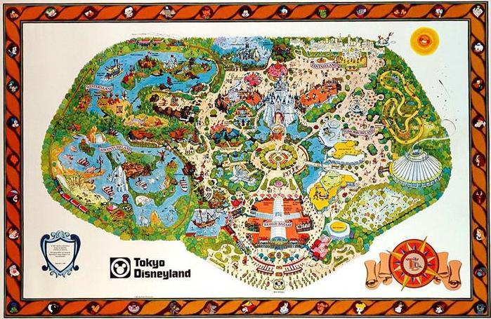 Thread: Tokyo Disney Pre-Opening Map from 1980