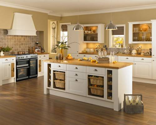 White And Black Kitchen With Non Fitted Appliances