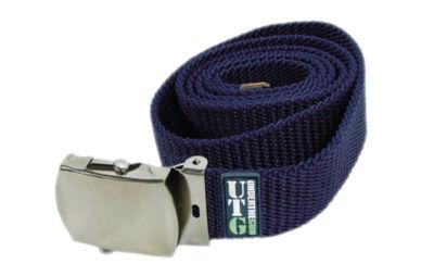 jn stores canvas dress belt silver buckle navy