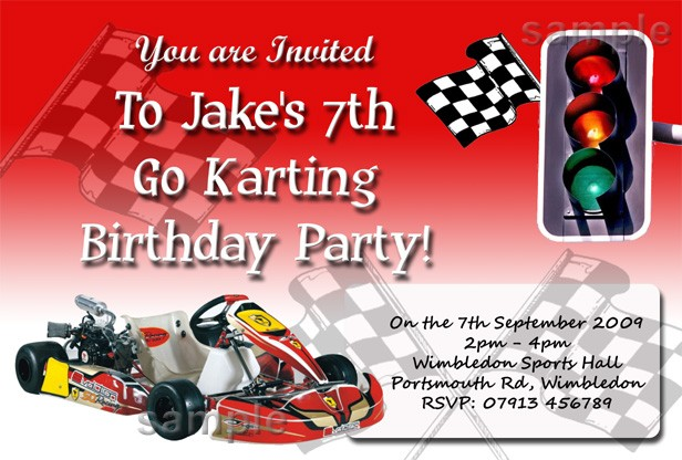 Go Kart Party Invitations were Inspirational Template To Create Inspiring Invitation Layout