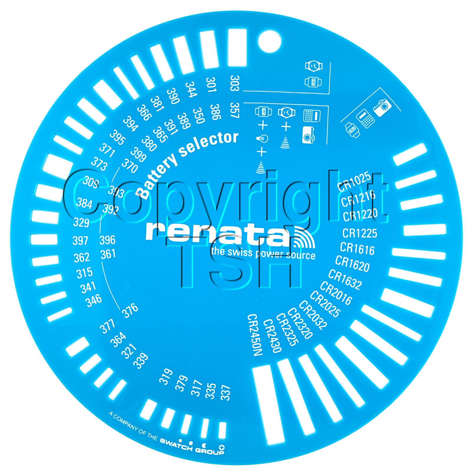 Renata battery size selector size chart for 1 5 3v ebay