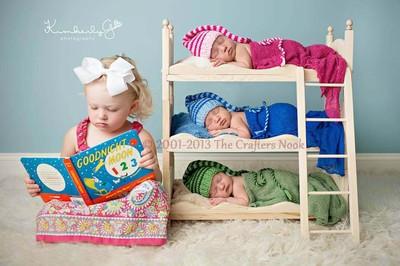 Diy Small Whimsical Newborn Photography Prop Triple Bunk