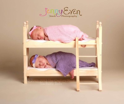 Diy Small Whimsical Newborn Twins Photography Prop Bunk