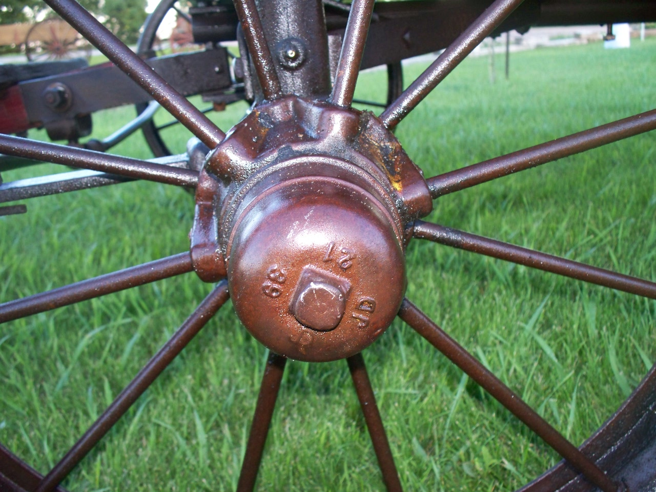 Tamit1 Vintage John Deere Horse Drawn Wagon