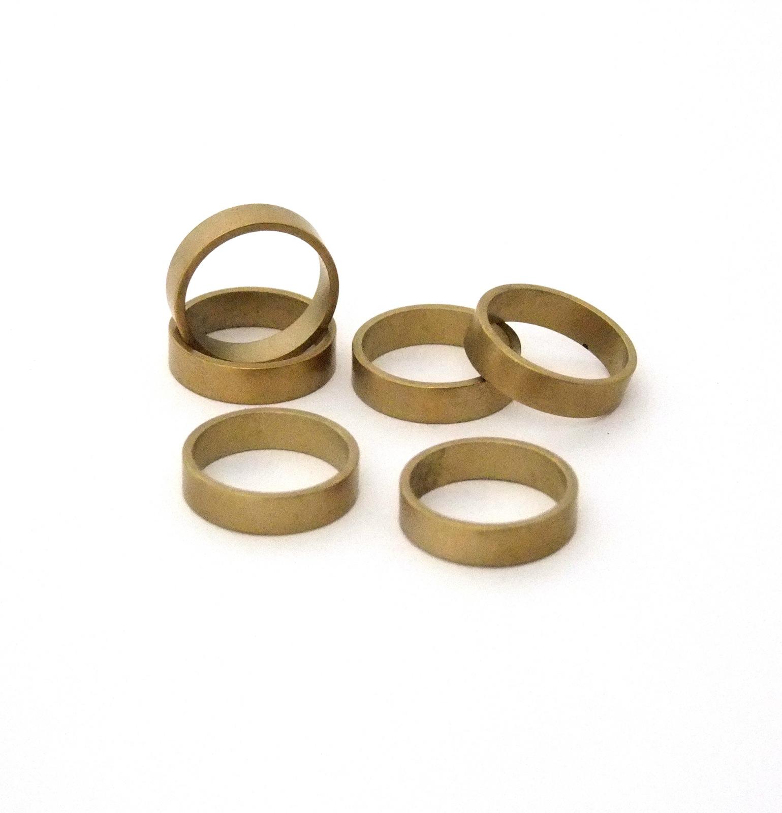 Raw Brass Bracelet Cuff Flat 1 inch Wide G53//1 2.5 inches