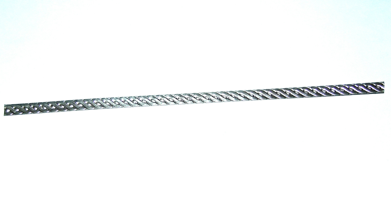 Details about Rope Patterned Sterling Silver Wire 8 Inches By 6 5mm Wide