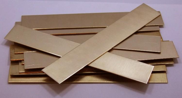 """Raw Copper Sheet Bracelet Cuff Blanks 6/"""" x 0.5/"""" 18ga Package Of 2"""