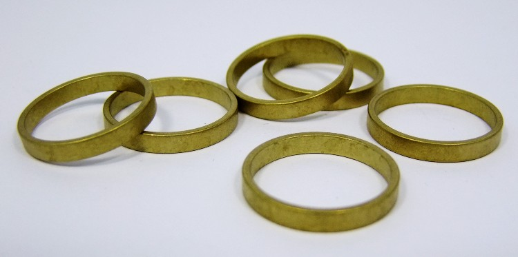 Raw Brass Solid Domed Bracelet Bangle Blanks 1//2 inch Wide Pkg Of 12