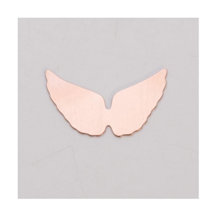 """Copper Blanks Windblown Heart 1 1//2/"""" x 1/"""" 24ga Pkg Of 6"""