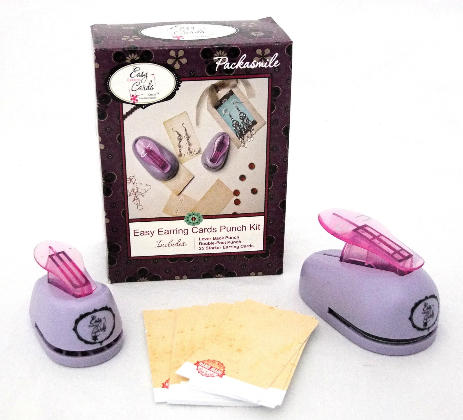 Details About Easy Earring Punch Kit For Cards Two Hole Leverback W