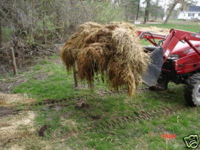 Groundworks Debris Hay Manure Brush Rake Tractor Bucket