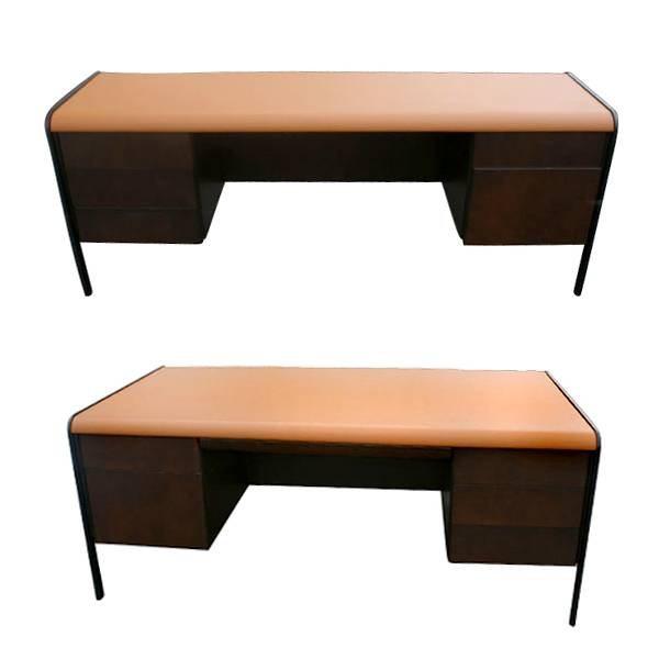 Norman Bates Mid Century Modern Desk And Credenza Set. FREE SHIPPING!!!  Completely Restored Set
