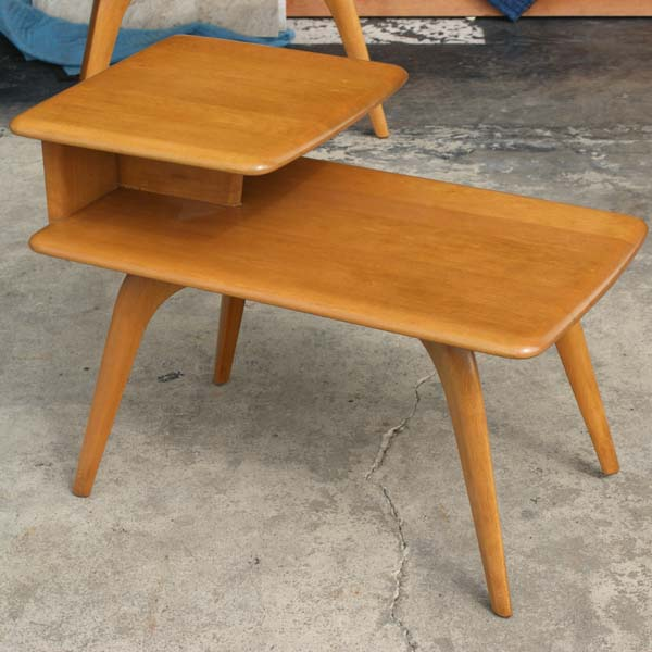 (1) Vintage Heywood Wakefield Side Step End Table M308G