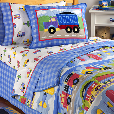 Comforter Queen  on Great Bedding   New Truck Kids Boy Queen Comforter Bedroom Bedding Set