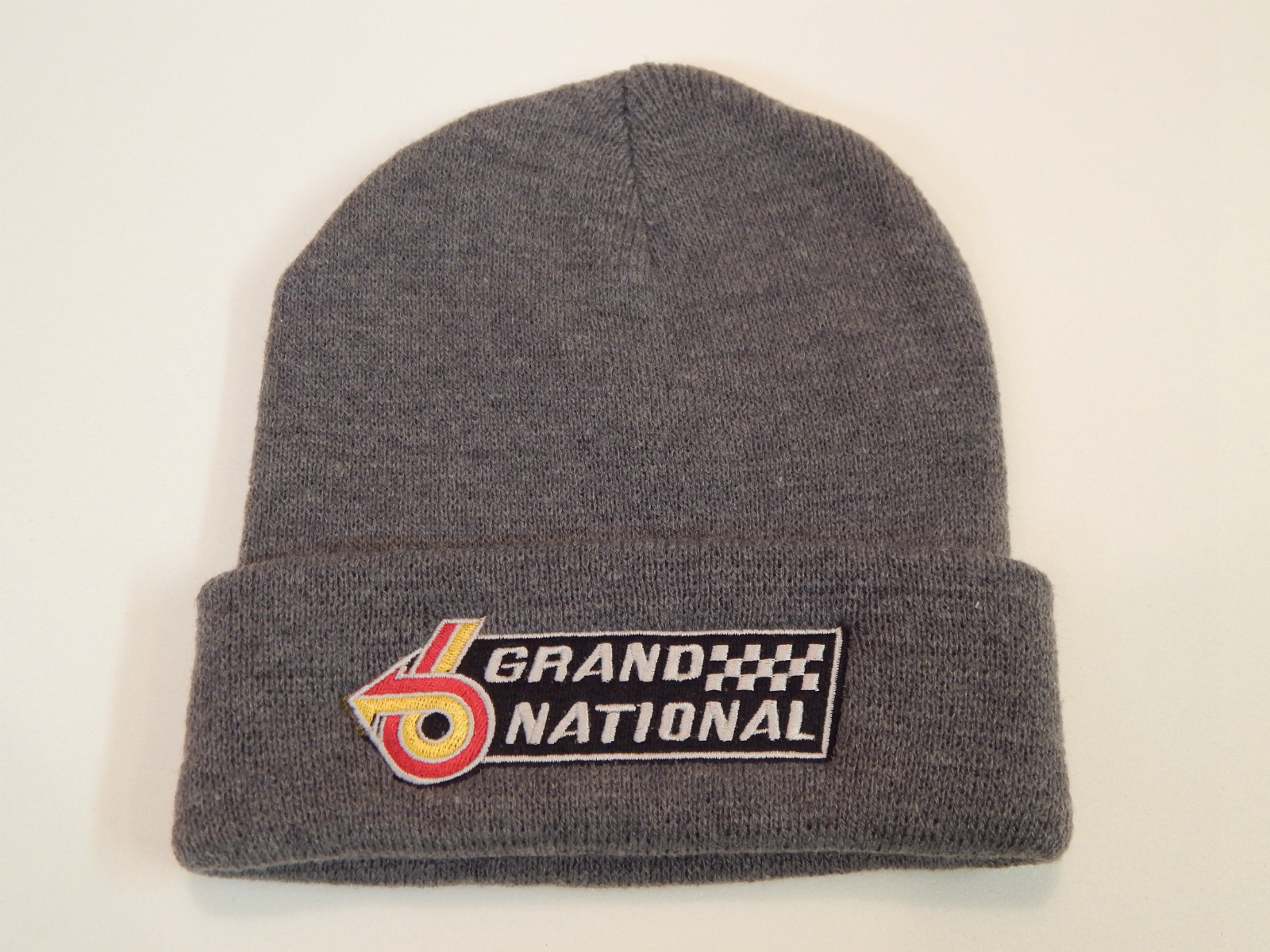 Grand National Beanie Hat Grey 1987
