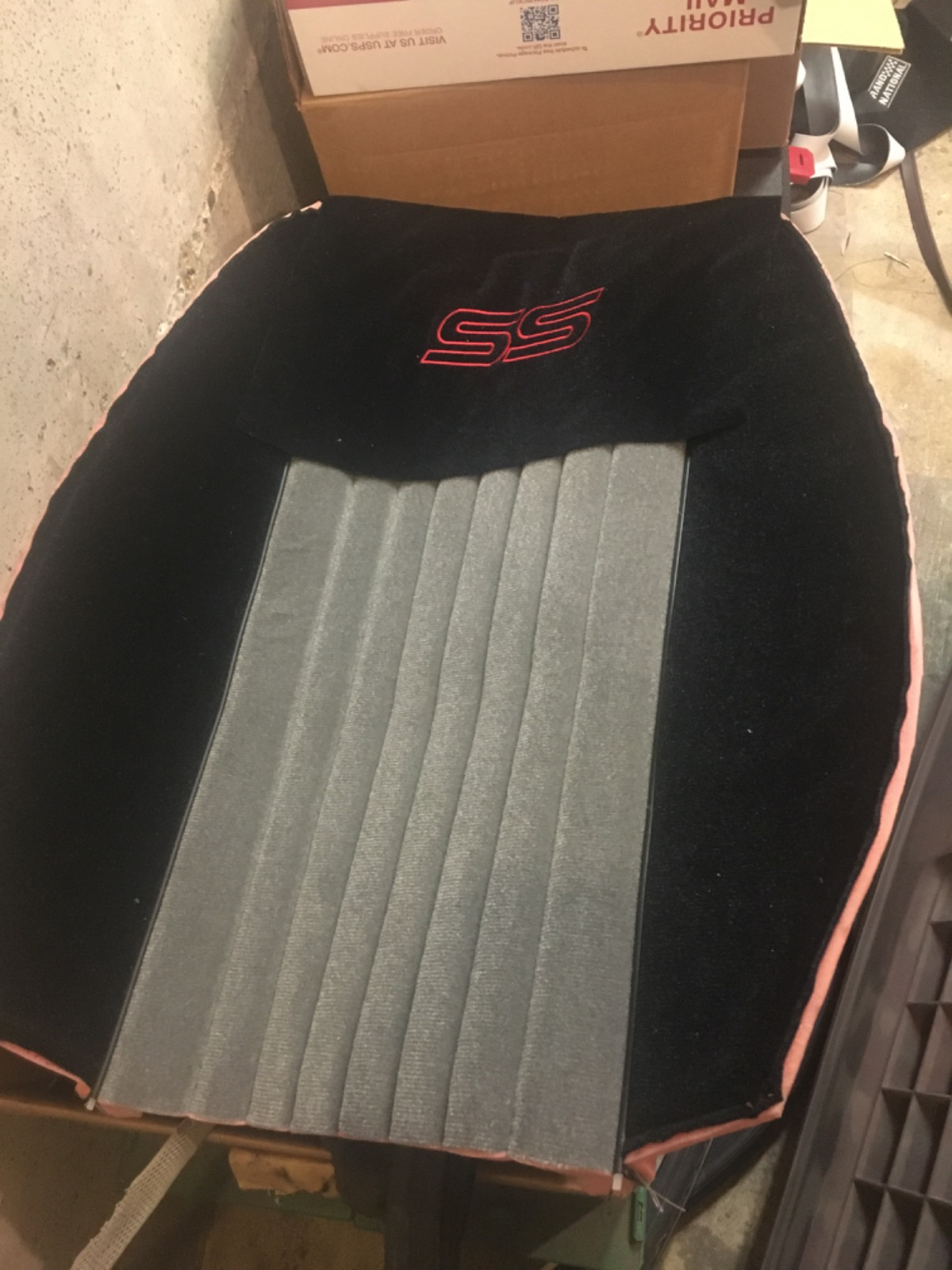 Monte Carlo SS upholstery kit black and grey all f