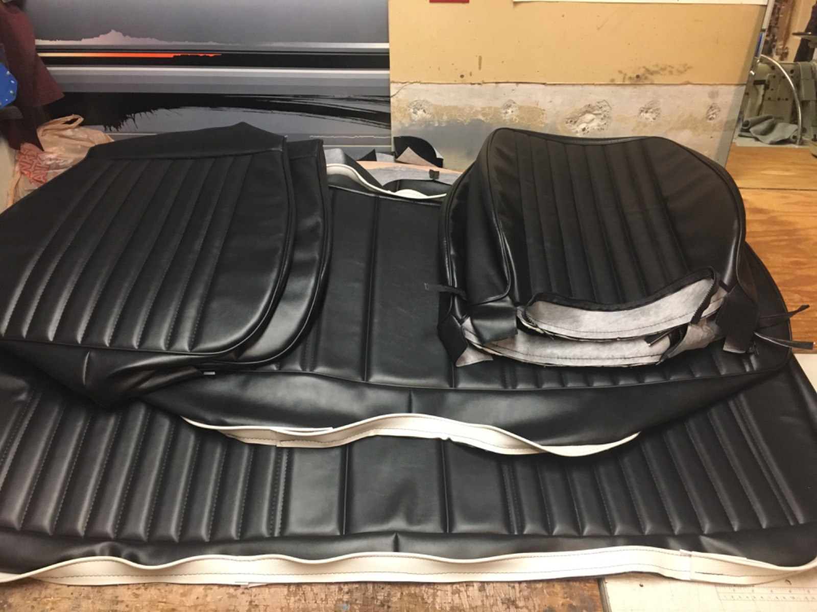 Monte Carlo SS black vinyl seat upholstery