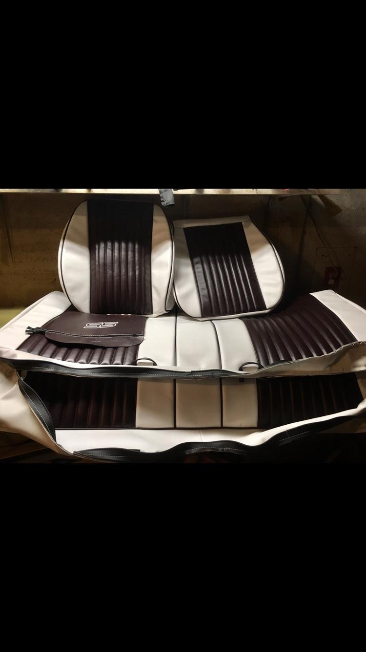 Monte Carlo SS custom upholstery all vinyl white a