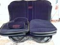 Black Fabric Monte Carlo SS Bucket Bench Upholster