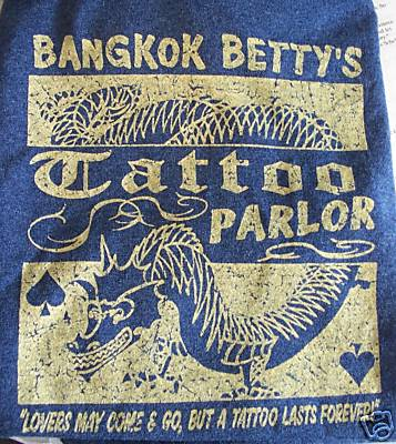 Picture it here blue bangkok betty 39 s tattoo parlor for Bangkok tattoo prices