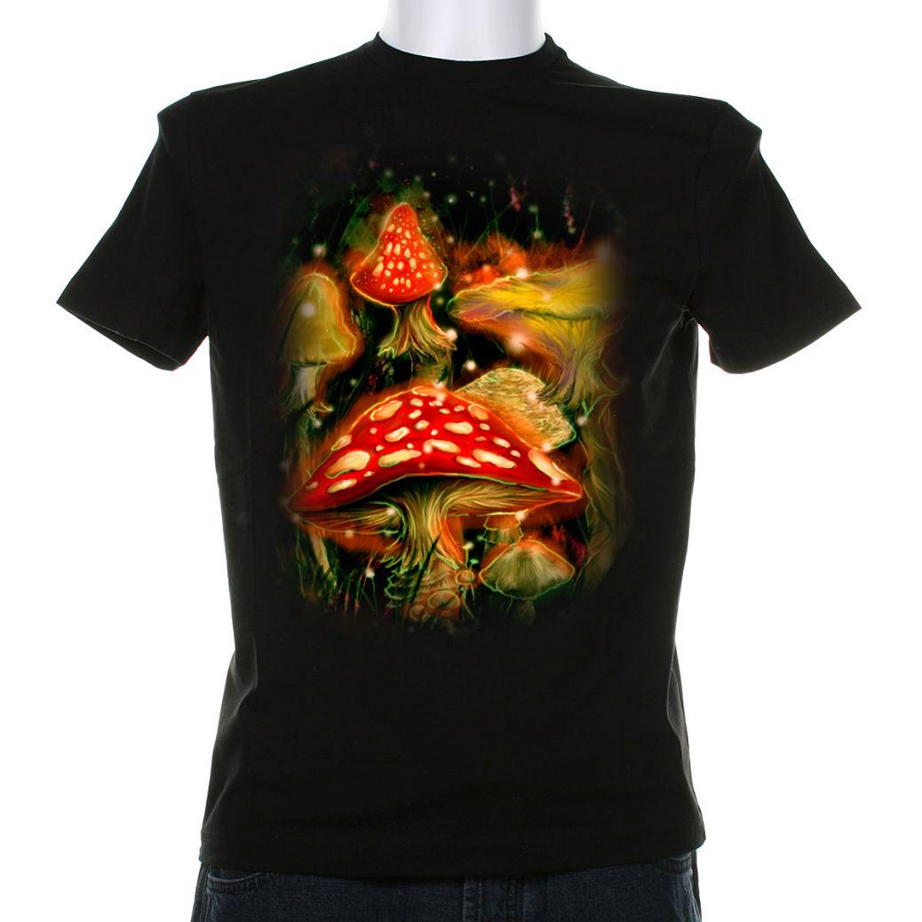 Blue Muppet Mushroom Dream T Shirt Print