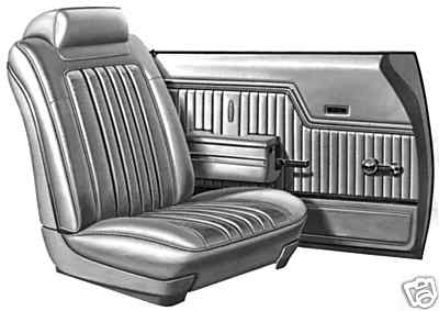 Standardsheetmetal Chevelle 71 Seat Cover Door Panel