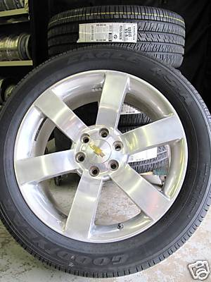 "ezbuywholesale : 20"" TRAILBLAZER SS ENVOY FACTORY POLISHED WHEELS TIRES"