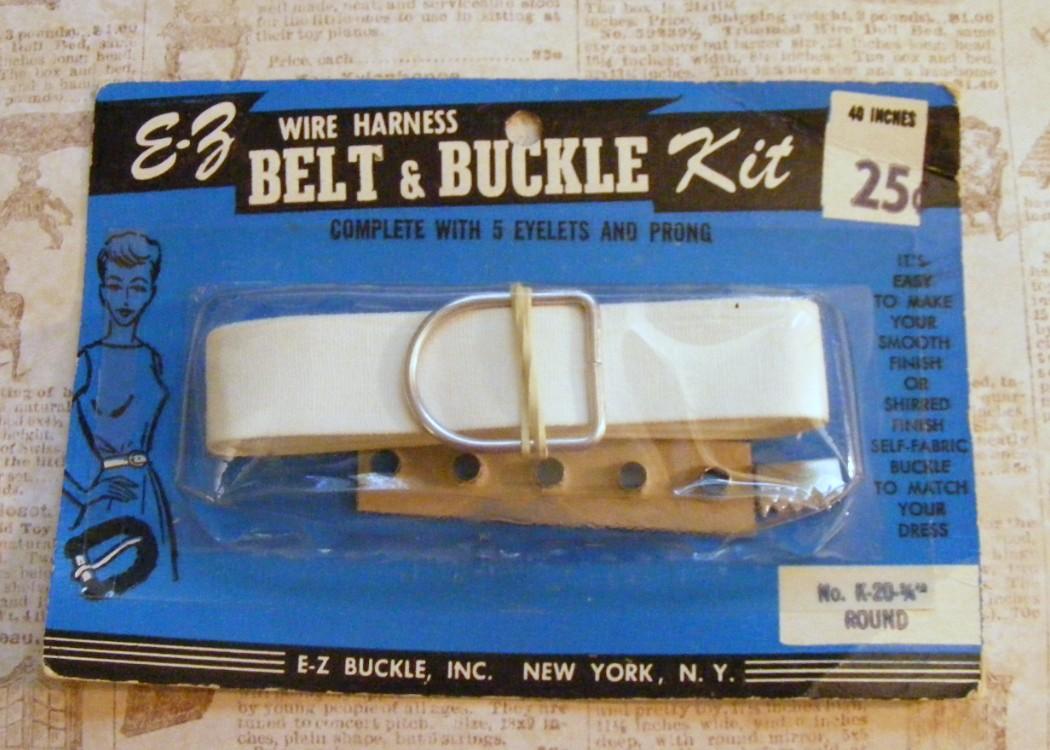 Sewing vintage ez wire harness belt buckle kit quot