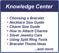 Chosing a bracelet, Necklace size guide, How to attach charms, silver jewelry care
