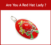 Enamel Charms, Red Hat Sterling Silver Charms