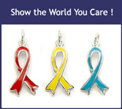 Awareness Ribbons Sterling Silver Charms