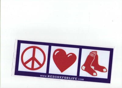 Kaosink Red Sox For Life Peace Love Red Sox