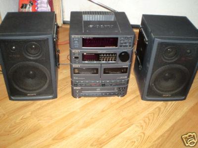 Picknpockets Nice Huge Am Fm Cd Dual Cassette Boombox