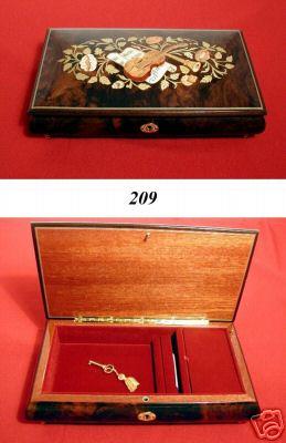 Billanderson1949 New Inlaid Italian Wood Music Jewelry