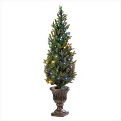 70 battery operated timer led light urn christmas tree
