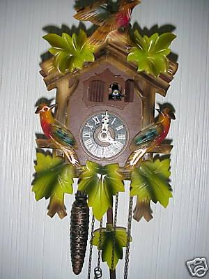 Mixedbag56 : West Germany Black Forest Cuckoo Clock w Music & 2 Door