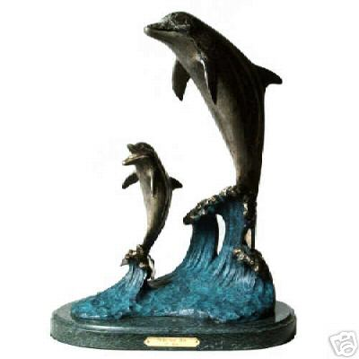 Bronze Sculpture Dolphins Limited Edition Pride an