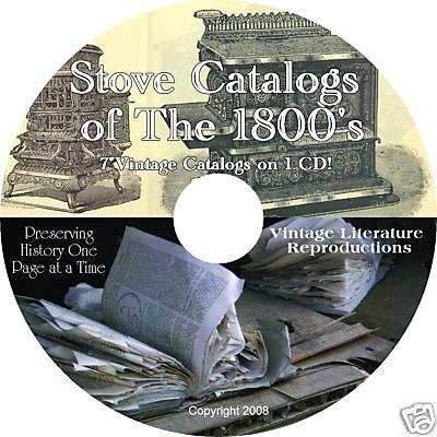 Vintage Literature Reproductions 1800 S Vintage Stove