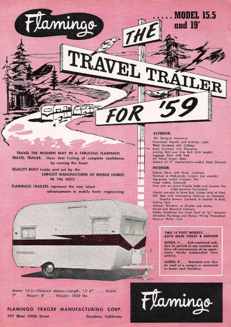 Vintage Literature Reproductions 1959 Flamingo Travel