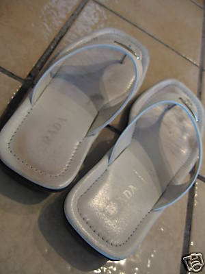 Well Worn Used Women's Prada Thongs Sandals Shoes Sz 37