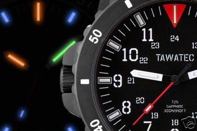 TaWaTec ICS Black Titanium Automatic H3 Divers Wat