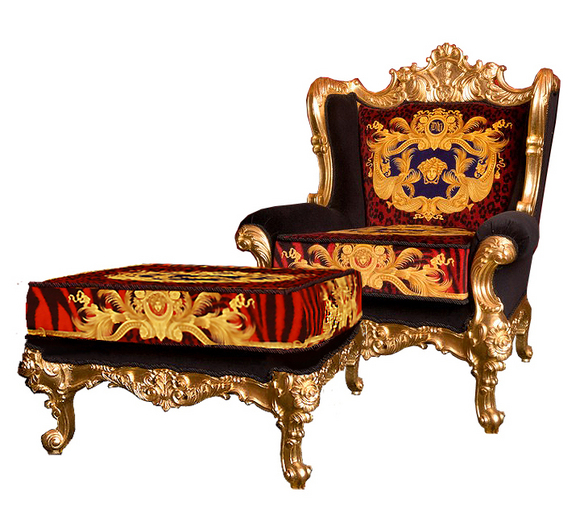 iQdesigner : DG Versace King Throne Chair Red Animal Print ...