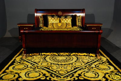 versace bedroom set iqdesigner bnib 12 5 sleigh bed set king size versace 13722