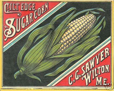 Vintage Crate Label, Gift Edge Sugar Corn