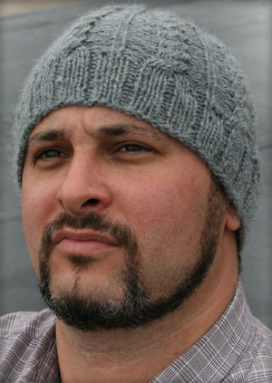 Skull Cap Knitting Pattern : The Magickal Ewe : Pattern - Mens Cable Knit Skull Cap Pattern